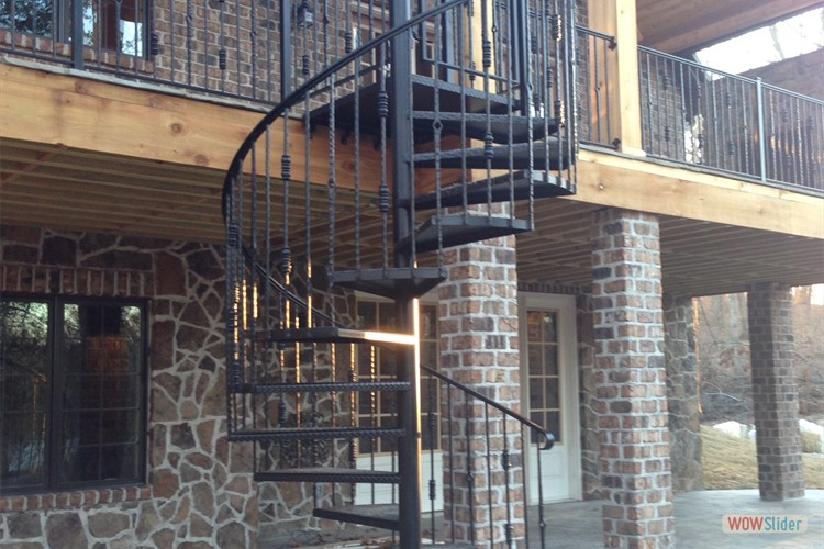 Patio Area and Custom Spiral Staircase